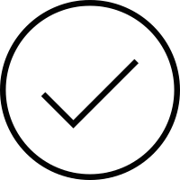 Tick inside a circle vector