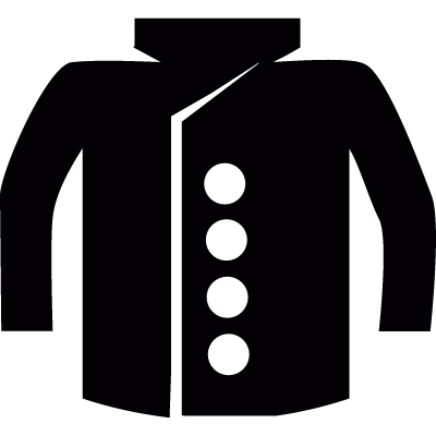 Coat with buttons vector logo