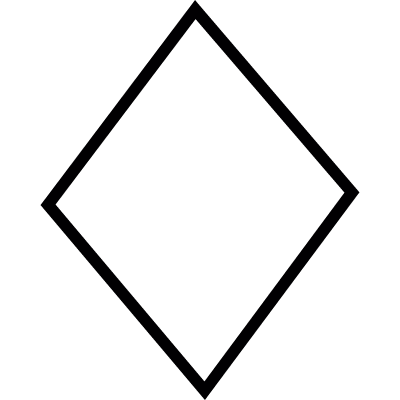 Diamond shape, IOS 7 interface symbol vector logo
