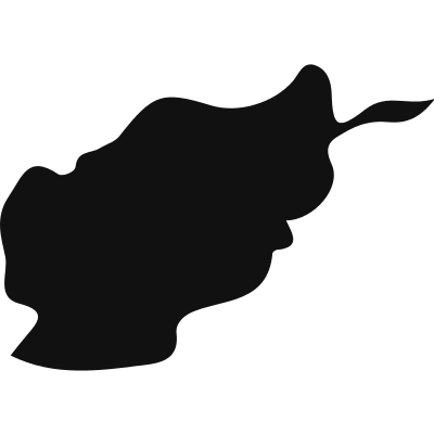 Afghanistan country map black shape vector logo