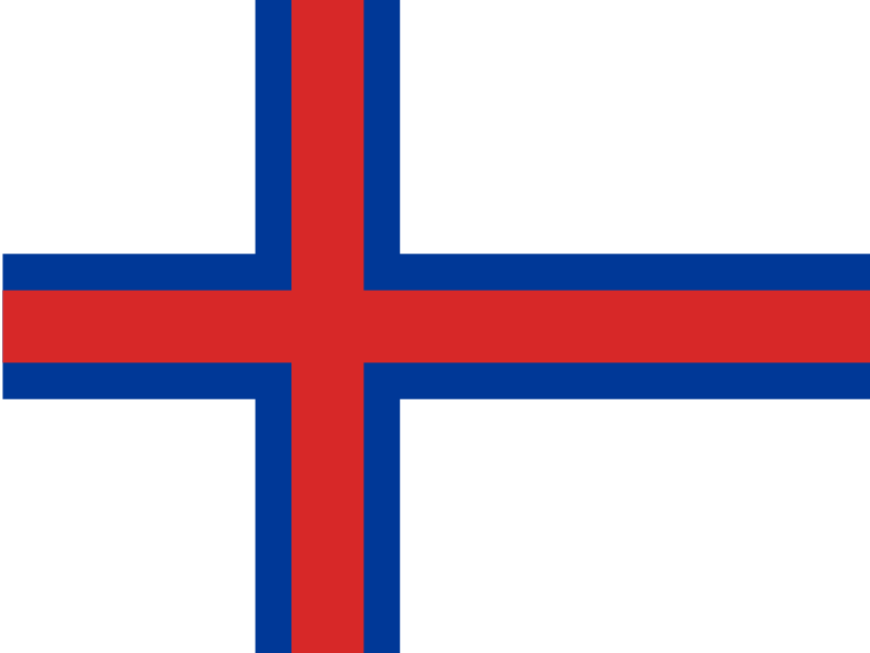 Flag of Faroe Islands vector