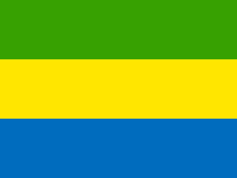Flag of Gabon vector