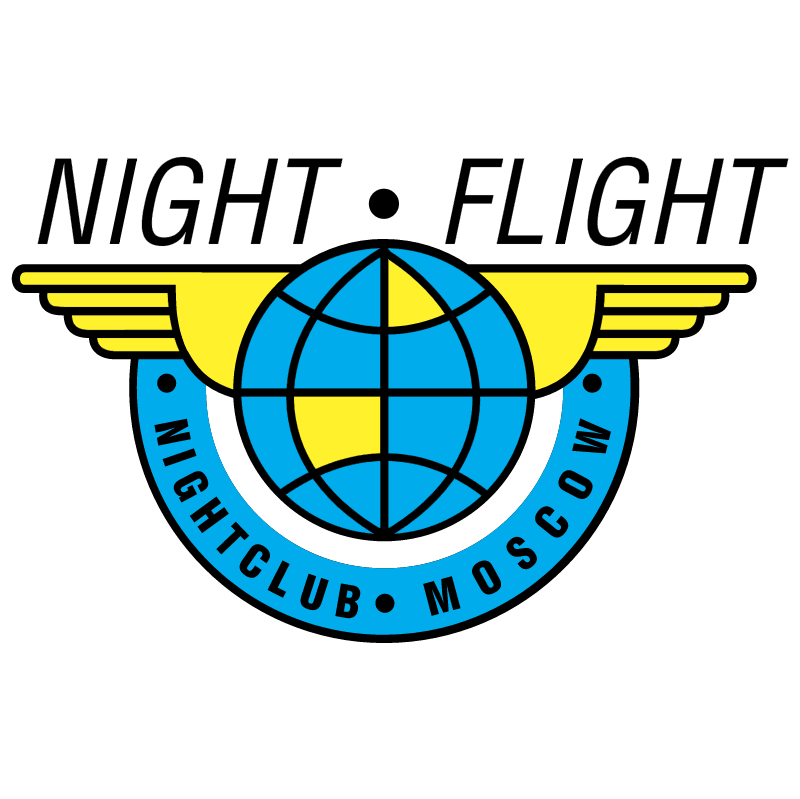 Night Flight vector logo