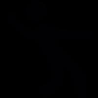 Man dancing silhouette vector