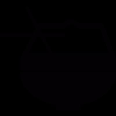 Oriental bowl with chopsticks vector logo