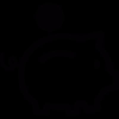 Piggy bank vector logo