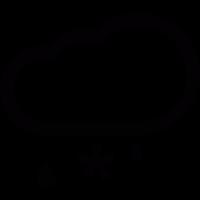 Cloud with sleet vector