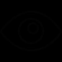 Blank eye vector