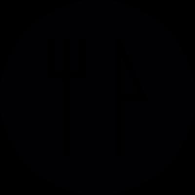 Restaurant Round Button vector logo