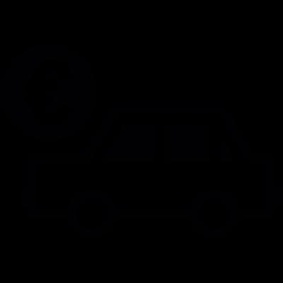 Car sale in euros vector logo