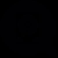 Speech balloon with computer disc drive vector