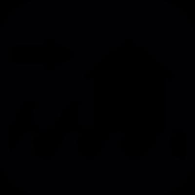 Flood risk vector logo