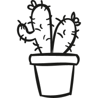 Two Cactus In a Pot vector