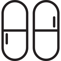 Two Capsules vector