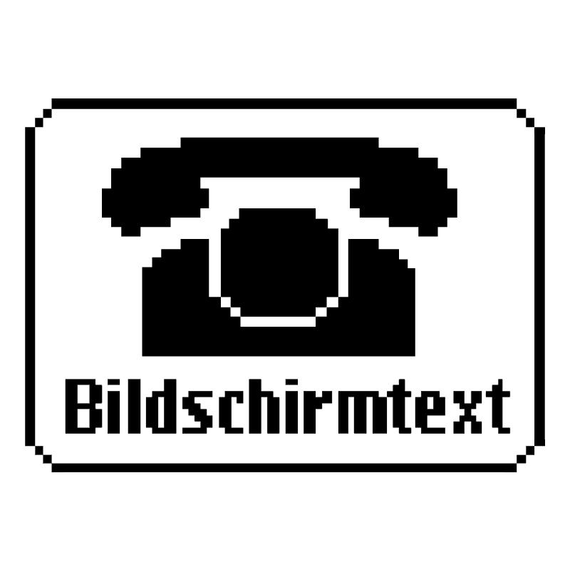 Bildschirmtext vector