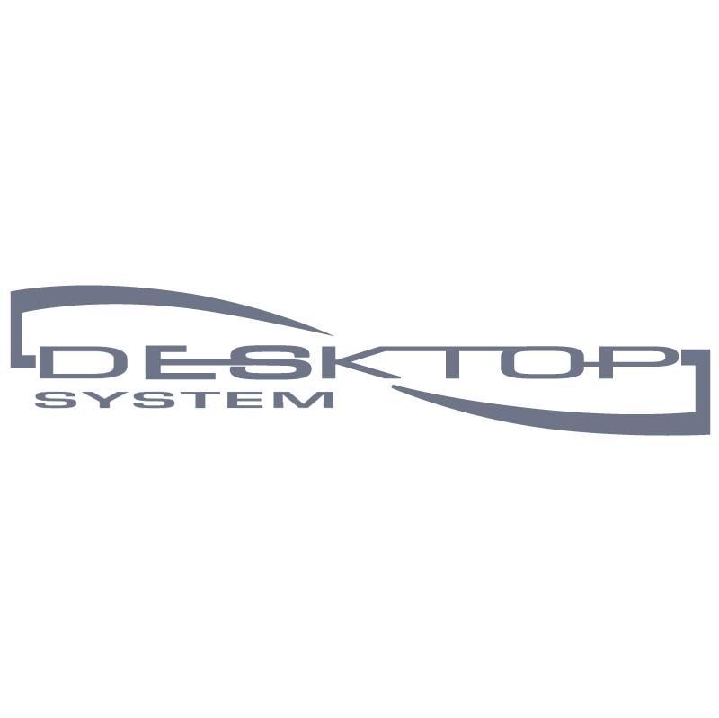 Desktop System vector