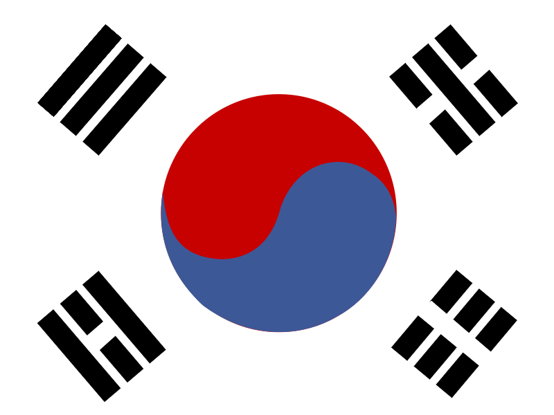 Flag of Republic of Korea vector