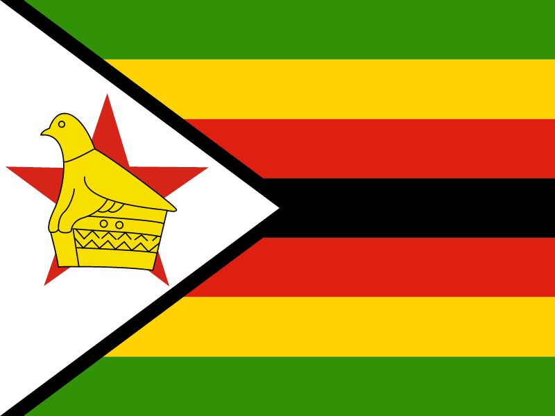 Flag of Zimbabwe vector