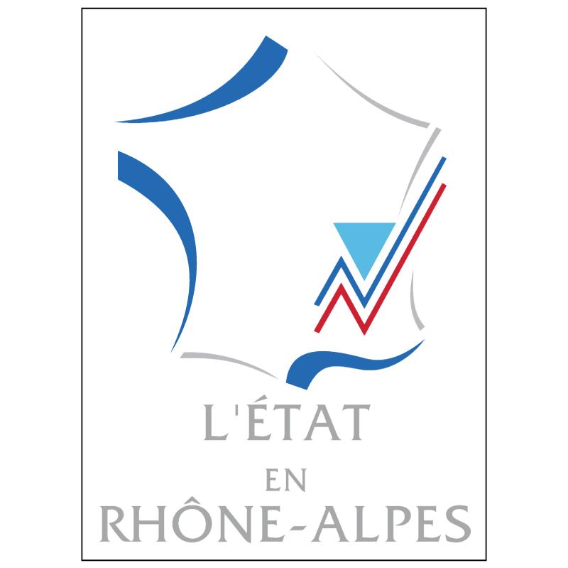 L'Etat en Rhone Alpes vector