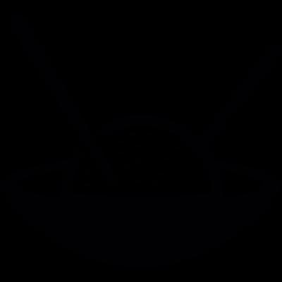 Japanese Rice ball in a bowl vector logo