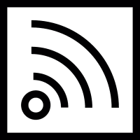 RSS logo inside a box vector