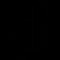Treble clef, IOS 7 interface symbol vector