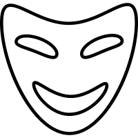 Comedy mask, IOS 7 interface symbol vector