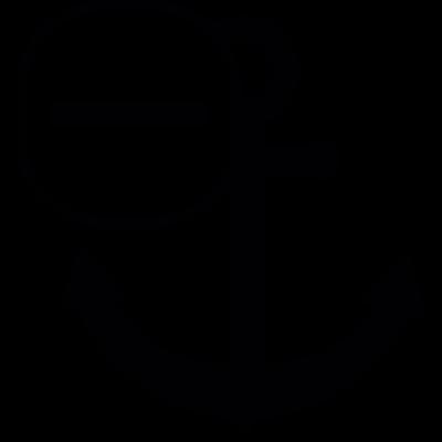 Anchor with a minus sign vector logo