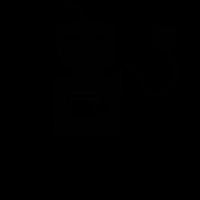 Robot with Plug vector logo