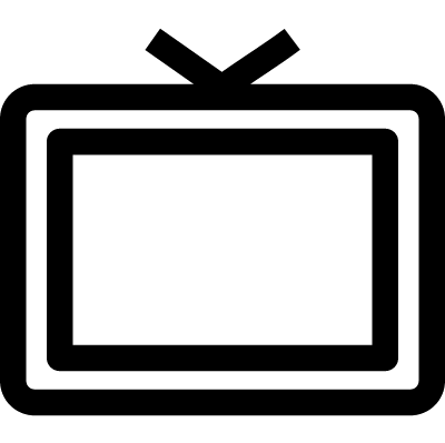 Old Television vector logo