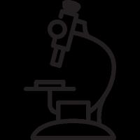 Hospital Microscope vector