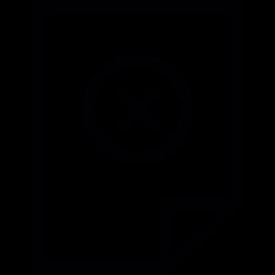 Cancel Document vector logo
