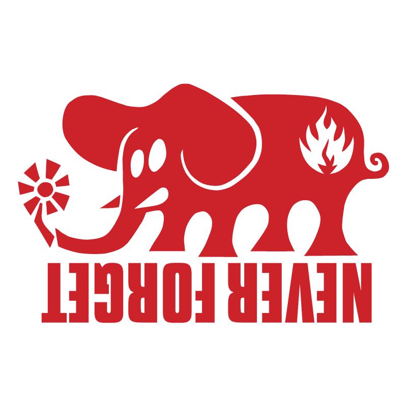 Black Label Elephant vector