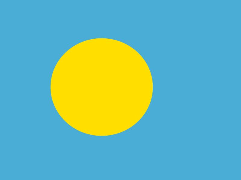 Flag of Palau vector
