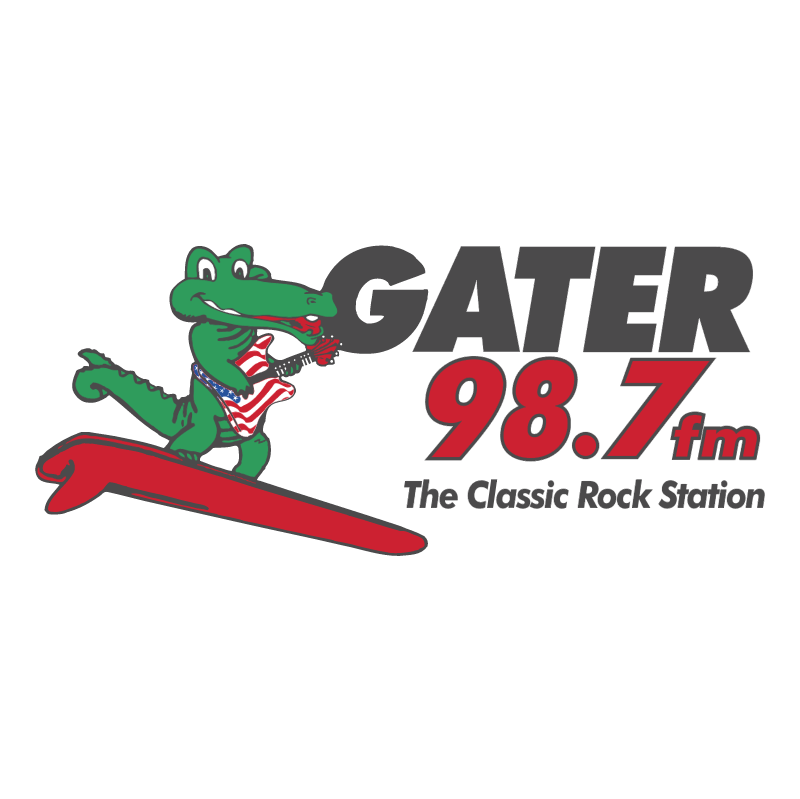 Gater 98 7 FM vector