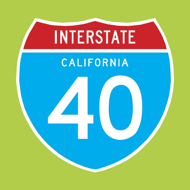 Interstate 40 vector