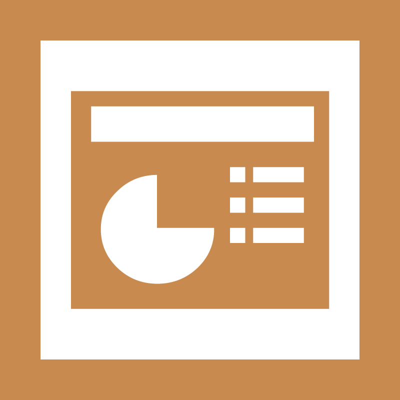 Microsoft Office Powerpoint vector