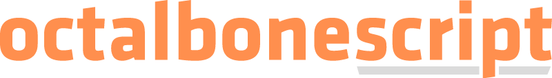 Octalbonescript vector
