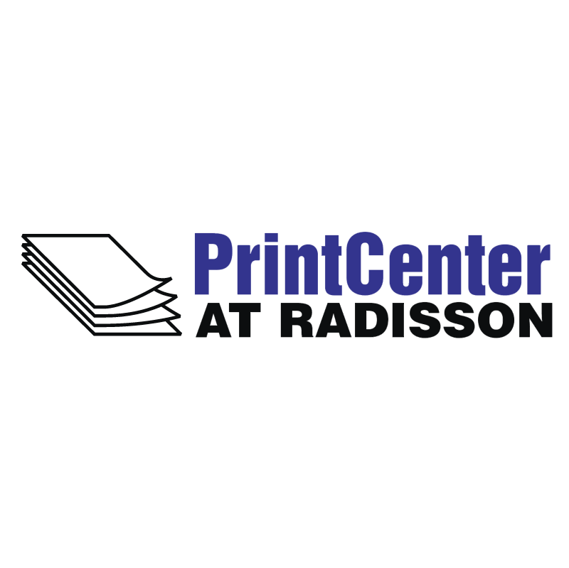 Print Center at Radisson vector logo