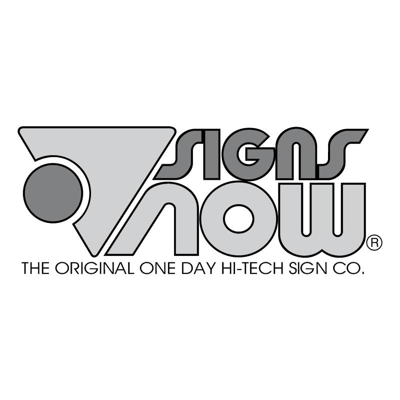 Signs Now vector logo