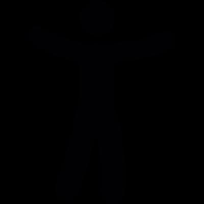 Man with open arms vector logo