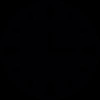Black wallclock vector