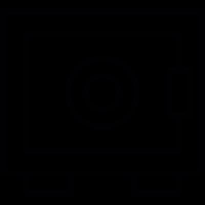 Bank Safe box vector logo