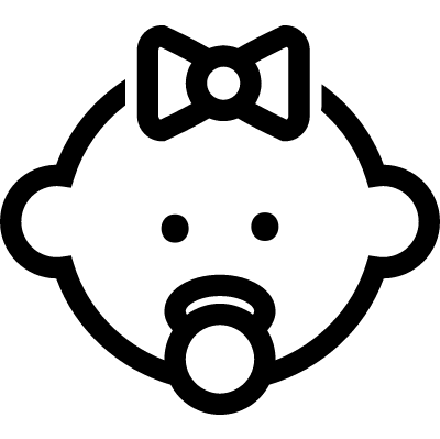 Female baby head vector logo