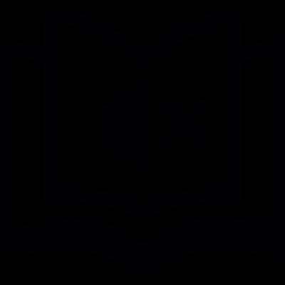 Muted book vector logo