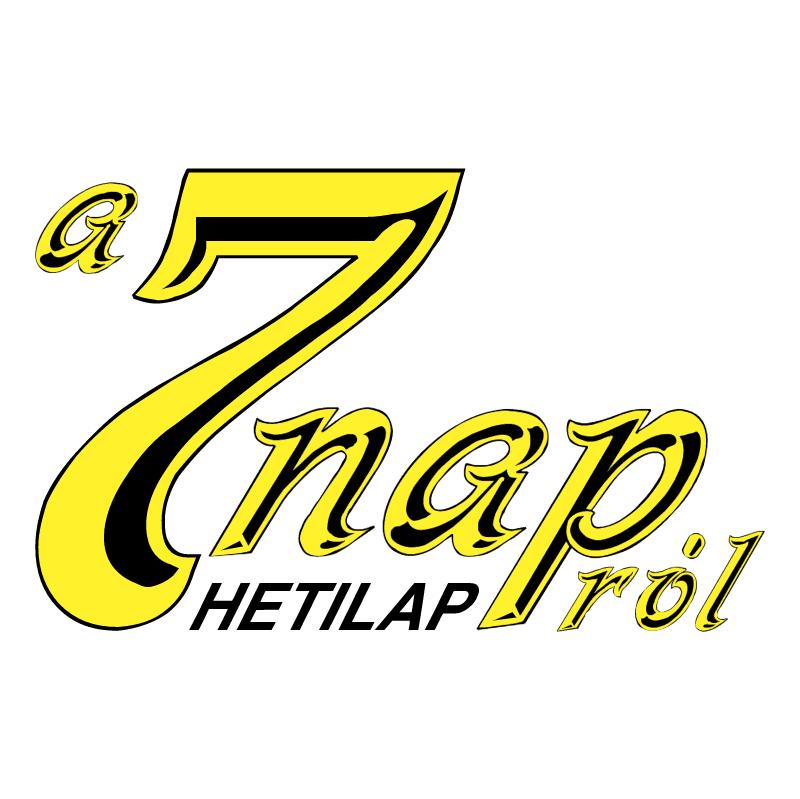 7 Nap Hetilap vector