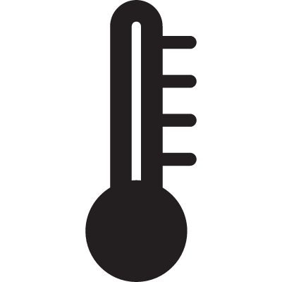Thermometer with no heat vector logo