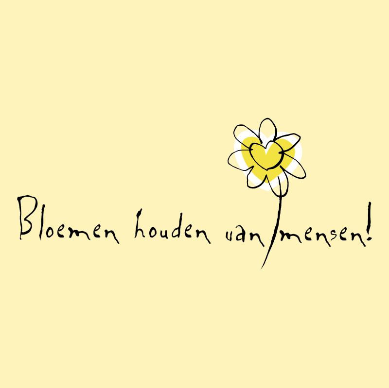 Bloemen houden van mensen vector