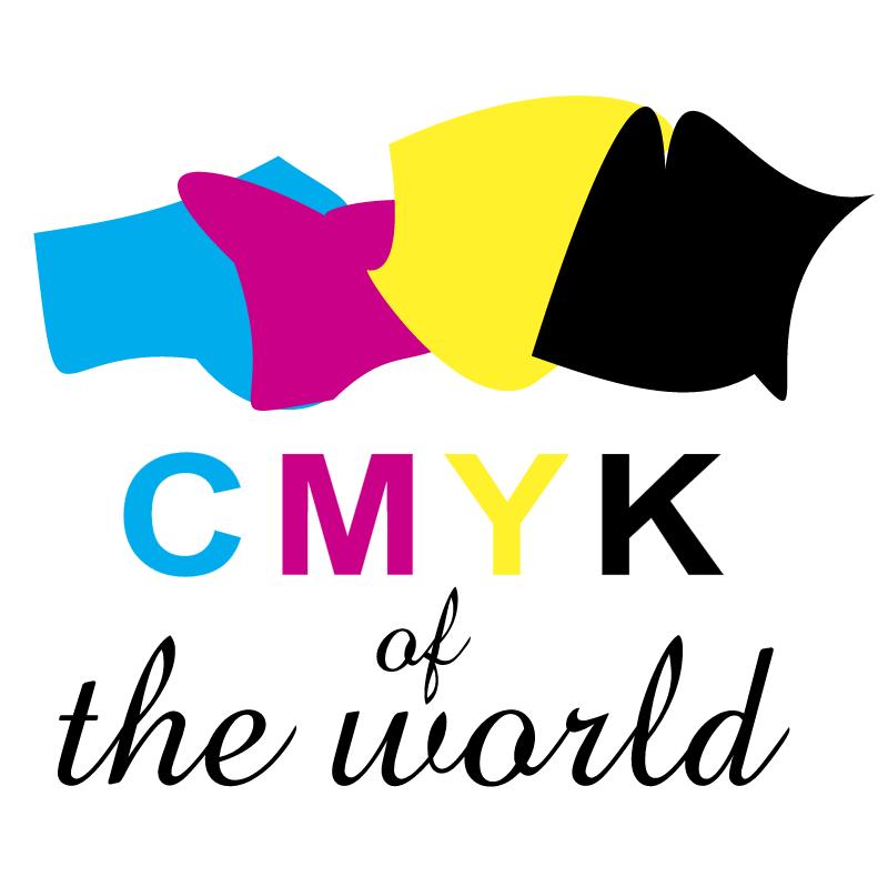 CMYK of the world vector logo