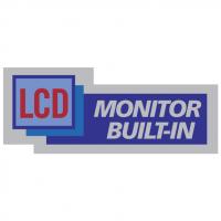 LCD Monitor Bilt In vector